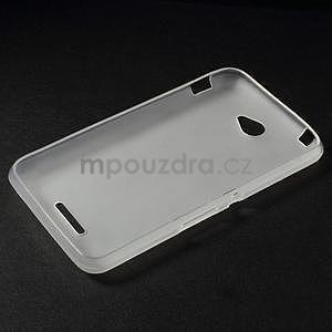 Gélový jednofarebný obal pre Sony Xperia E4 - transparentné - 5