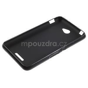 Gélový jednofarebný obal pre Sony Xperia E4 - čierny - 5