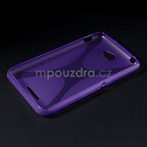 Gelový x-line obal na Sony Xperia E4 - fialový - 5