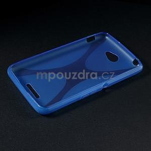 Gélový x-line obal pre Sony Xperia E4 - modrý - 5