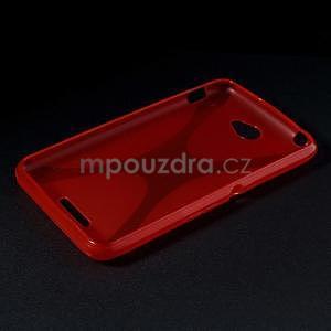 Gelový x-line obal na Sony Xperia E4 - červený - 5
