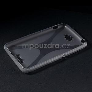 Gelový x-line obal na Sony Xperia E4 - šedý - 5