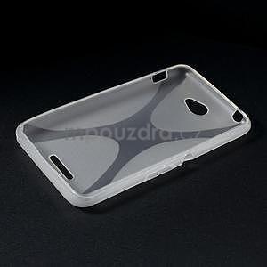 Gelový x-line obal na Sony Xperia E4 - transparentní - 5