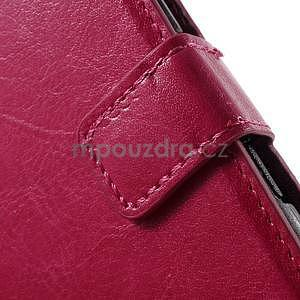 PU kožené pěněženkové pouzdro na mobil Sony Xperia E4 - rose - 5