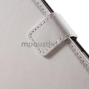 PU kožené pěněženkové pouzdro na mobil Sony Xperia E4 - bílé - 5