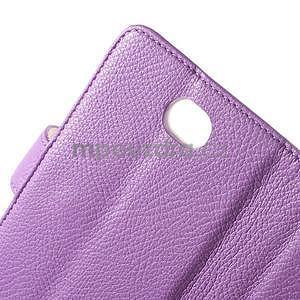 Koženkové puzdro pre Sony Xperia E4 - fialové - 5