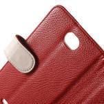 Koženkové puzdro pre Sony Xperia E4 - červené - 5/7
