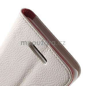 Koženkové pouzdro pro Sony Xperia E4 - bílé - 5
