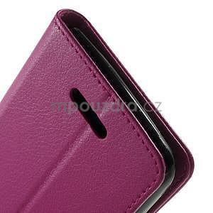 PU kožené Peňaženkové puzdro pre Sony Xperia E4 - rose - 5