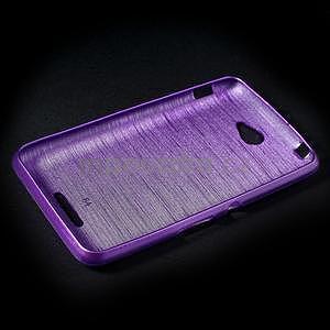 Brúsený gélový obal pre Sony Xperia E4 - fialový - 5
