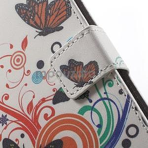 Peňaženkové puzdro pre Sony Xperia E4 - farební motýľe - 5
