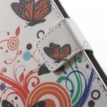 Peňaženkové puzdro pre Sony Xperia E4 - farební motýľe - 5/7