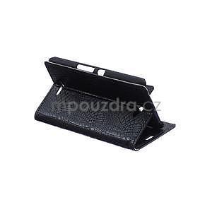 Puzdro s krokodílím vzoromna Sony Xperia E4 - čierne - 5