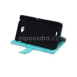 Puzdro s krokodílím vzoromna Sony Xperia E4 - tyrkysové - 5