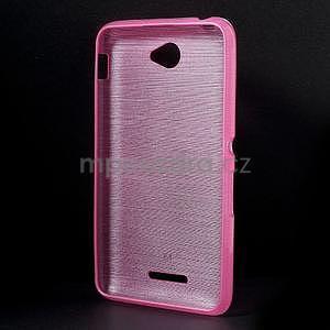 Brúsený gélový obal pre Sony Xperia E4 - rose - 5
