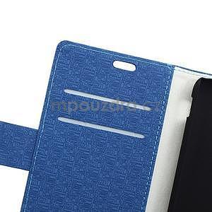 Vzorované pěněženkové pouzdro na Sony Xperia E4 - modré - 5