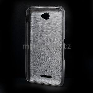 Broušený gelový obal pro Sony Xperia E4 - transparentní - 5