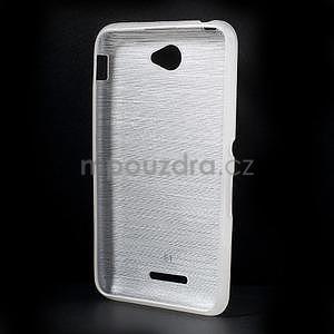 Brúsený gélový obal pre Sony Xperia E4 - biely - 5
