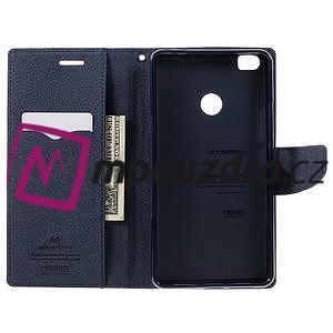 Diary PU kožené puzdro pre mobil Xiaomi Mi Max - fialové - 5