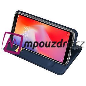 DUX PU kožené flipové puzdro na mobil Xiaomi Redmi 6A - modré - 5
