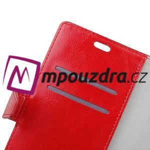 Horse PU kožené peňaženkové puzdro na mobil Xiaomi Redmi 6A - červené - 5