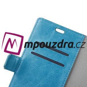 Horse PU kožené peňaženkové puzdro na mobil Xiaomi Redmi 6A - modré - 5