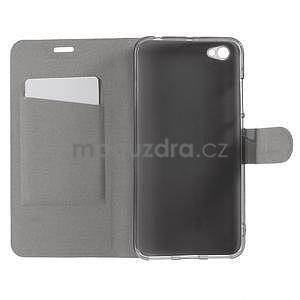 Horse PU kožené puzdro na Xiaomi Redmi Note 5A - čierne - 5