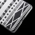 Ultratenký gélový obal pre Sony Xperia E5 - geo tvary - 5/5