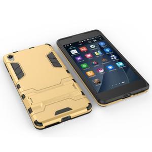 Outdoor odolný obal pre mobil Sony Xperia E5 - zlatý - 5