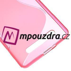 S-line gélový obal pre mobil Xiaomi Mi4c/Mi4i - rose - 5