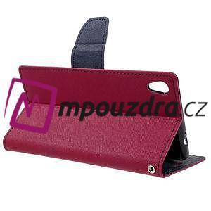 Diary PU kožené puzdro pre mobil Sony Xperia XA Ultra - rose - 5