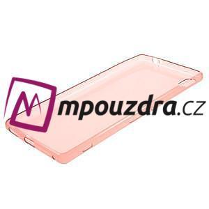 Ultratenký gélový obal pre mobil Sony Xperia XA Ultra - červený - 5