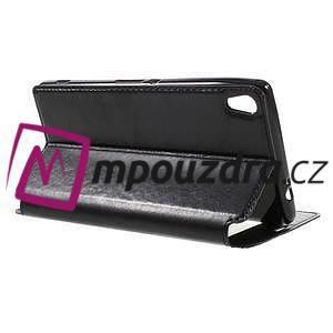 Richi PU kožené puzdro s okienkom na Sony Xperia XA Ultra - čierne - 5