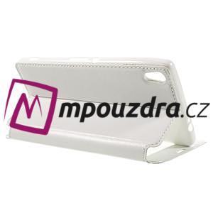 Richi PU kožené puzdro s okienkom na Sony Xperia XA Ultra - biele - 5
