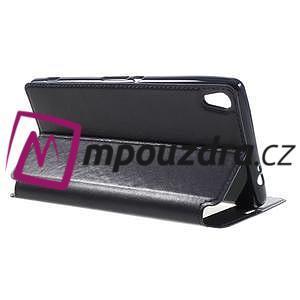 Richi PU kožené puzdro s okienkom na Sony Xperia XA Ultra - tmavomodré - 5