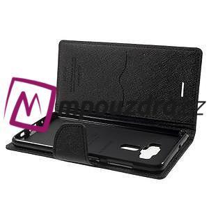 Diary PU kožené puzdro pre mobil Asus Zenfone 3 Deluxe - čierné - 5