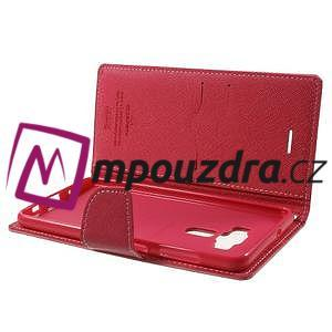 Diary PU kožené pouzdro na mobil Asus Zenfone 3 Deluxe - růžové - 5