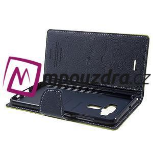 Diary PU kožené puzdro pre mobil Asus Zenfone 3 Deluxe - zelené - 5