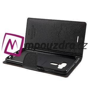 Diary PU kožené puzdro pre mobil Asus Zenfone 3 Deluxe - hnedé - 5