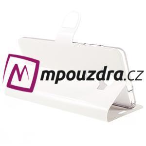 Horse PU kožené puzdro pre Asus Zenfone 3 Deluxe - biele - 5
