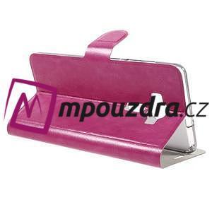Horse PU kožené pouzdro na Asus Zenfone 3 Deluxe - rose - 5