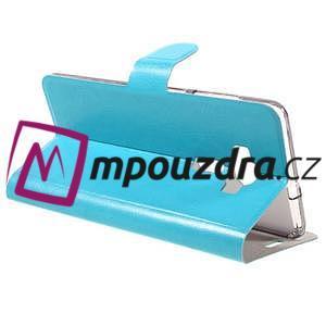 Horse PU kožené puzdro pre Asus Zenfone 3 Deluxe - modré - 5