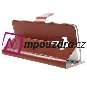 Horse PU kožené pouzdro na Asus Zenfone 3 Deluxe - hnědé - 5