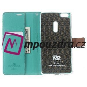 Diary peňaženkové pouzdro na mobil Asus Zenfone 3 Ultra - cyan - 5