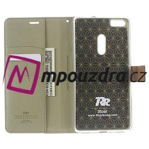 Diary peňaženkové puzdro pre mobil Asus Zenfone 3 Ultra - khaki - 5