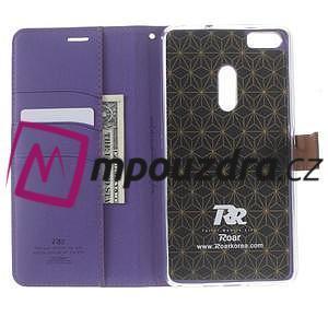 Diary peňaženkové puzdro pre mobil Asus Zenfone 3 Ultra - fialové - 5