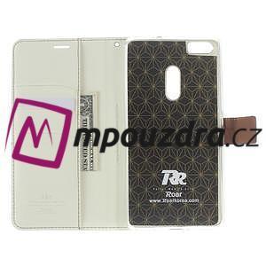 Diary peňaženkové puzdro pre mobil Asus Zenfone 3 Ultra - biele - 5