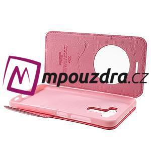 Diary puzdro s okýnkem na mobil Asus Zenfone 3 ZE520KL - rose - 5