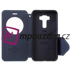 Diary puzdro s okýnkem na mobil Asus Zenfone 3 ZE520KL - světlemodré - 5