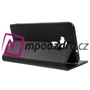 Leathy peňaženkové puzdro na Asus Zenfone 3 ZE520KL - čierne - 5